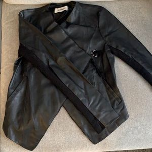 Draped fit Leather jacket
